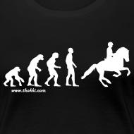 Motiv ~ Damen T-Shirt Evolution Galopp