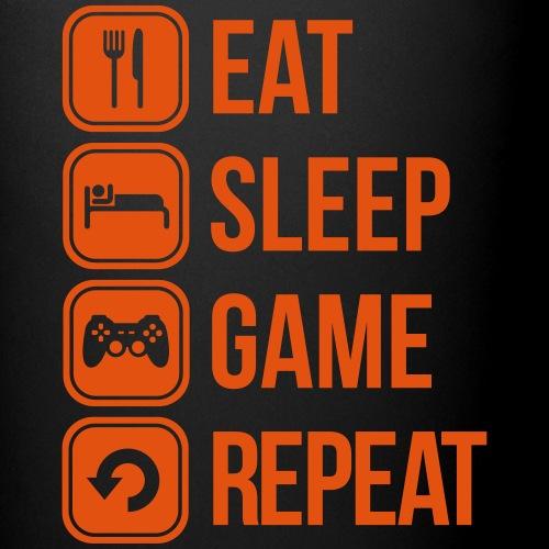 eat sleep game repeat videojuegos