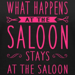What happens at the saloon stays there T-Shirts - Frauen T-Shirt mit V-Ausschnitt