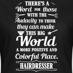 Big colorful world with hairdresser T-shirts - Vrouwen T-shirt