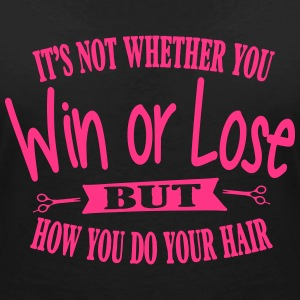 It's all about your hair T-Shirts - Frauen T-Shirt mit V-Ausschnitt