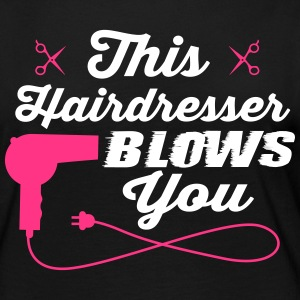 This hairdresser blows you Langærmede T-shirts - Dame premium T-shirt med lange ærmer
