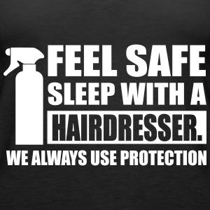 Feel safe sleep with a hairdresser Tops - Vrouwen Premium tank top