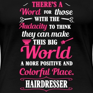 Big colorful world with hairdresser T-Shirts - Women's Premium T-Shirt