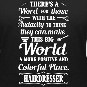 Big colorful world with hairdresser T-shirts - Vrouwen T-shirt met V-hals