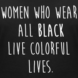 Woman who wear all black Camisetas - Camiseta con escote en pico mujer