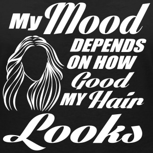 My mood depends on my hair T-shirts - Vrouwen T-shirt met V-hals