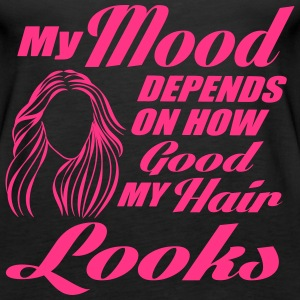 My mood depends on my hair Top - Canotta premium da donna