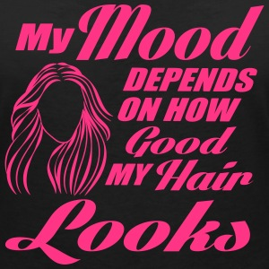 My mood depends on my hair Magliette - Maglietta da donna scollo a V