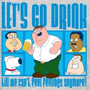 Family Guy Peter Griffin Let's Go Drink Men T-Shir - Mannen T-shirt