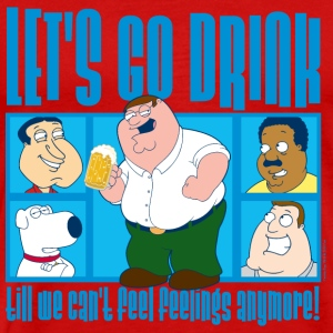Family Guy Peter Griffin Let's Go Drink Men T-Shir - Maglietta Premium da uomo