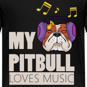 Pitbull Loves Music - Teenage Premium T-Shirt