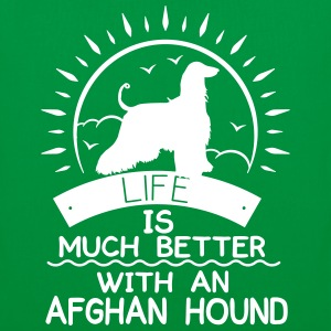 Life ist better - Afghan Hound Bags & Backpacks - Tote Bag