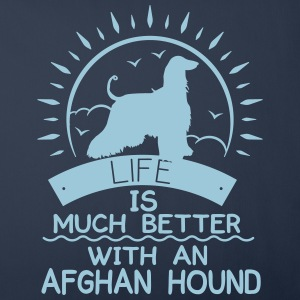 Life ist better - Afghan Hound Other - Sofa pillow cover 44 x 44 cm