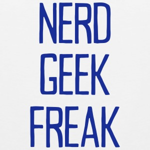 NERD GEEK FREAK Tank Tops - Men's Premium Tank Top