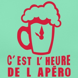 heure apero alcool humour biere verre Tee shirts - T-shirt Femme