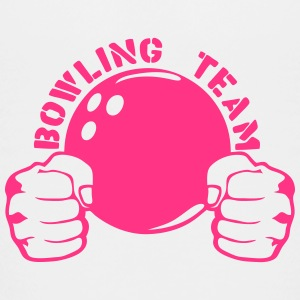 Bowling team fist closed logo ball Shirts - Teenage Premium T-Shirt