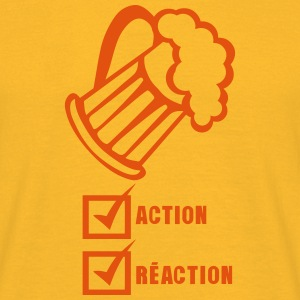 action reaction valide biere alcool Tee shirts - T-shirt Homme