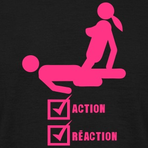 Action Reaction Valid Sex Love Case T-Shirts - Men's T-Shirt