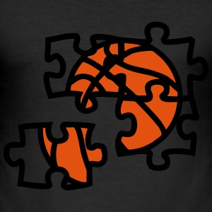 Basketball ball puzzle 2901 T-Shirts - Men's Slim Fit T-Shirt