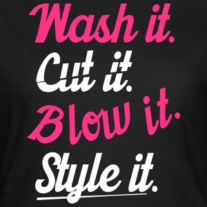 cut it wash it style it Camisetas - Camiseta mujer