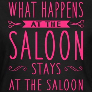 What happens at the saloon stays there Magliette - Maglietta da donna