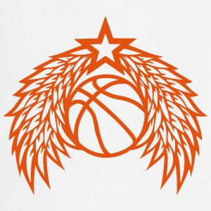Basketball ball star wing logo  Aprons - Cooking Apron