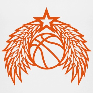 Basketball ball star wing logo Shirts - Teenage Premium T-Shirt