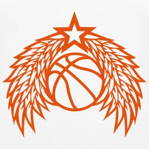 Basketball ball star wing logo Tops - Women's Premium Tank Top