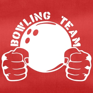 Bowling team fist closed logo ball Bags & Backpacks - Duffel Bag