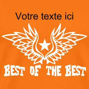 Add text best of the best wing logo T-Shirts - Men's Premium T-Shirt