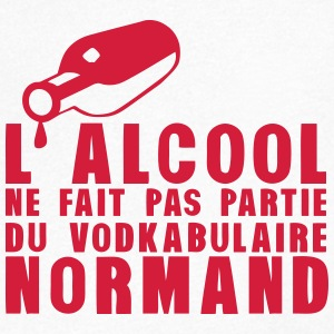 normand alcool vodkabulaire humour Tee shirts - T-shirt Homme col V