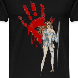 bloody-hand-woman T-Shirts - Men's Premium T-Shirt