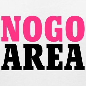 no go area T-Shirts - Women's V-Neck T-Shirt