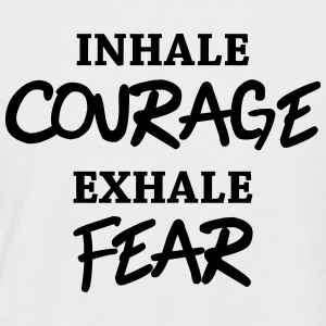 Inhale courage, exhale fear T-Shirts - Männer Baseball-T-Shirt