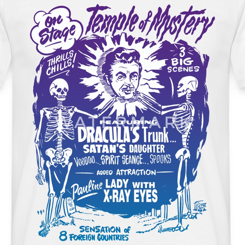 Vintage Halloween Spook Show Temple of Mystery T-Shirts - Men's T-Shirt