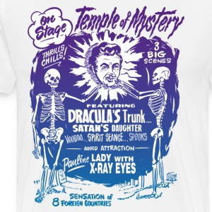 Vintage Halloween Spook Show Temple of Mystery T-Shirts - Men's Premium T-Shirt