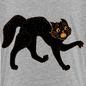 Scary Black Cat Shirts - Teenage Premium T-Shirt