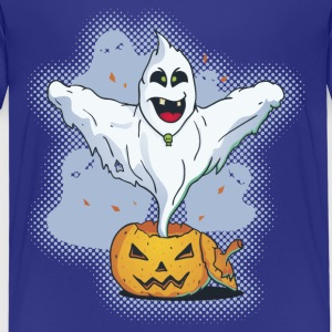 Scary Halloween Ghost with Pumpkin Shirts - Kids' Premium T-Shirt