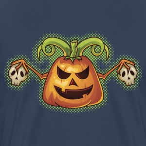 Halloween Evil Scary Pumpkin T-Shirts - Men's Premium T-Shirt