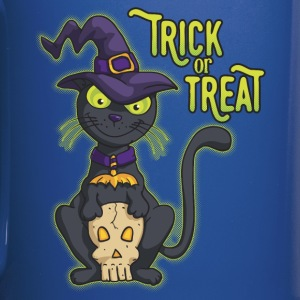 Halloween Black Witch Cat Trick or Treat Mugs & Drinkware - Full Colour Mug