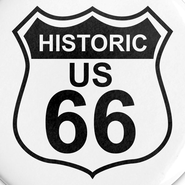 Buttons 56 mm Historic US 66, 5er Pack