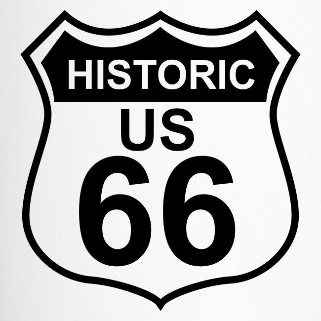 Thermobecher Historic US 66 mit Trinkverschluss