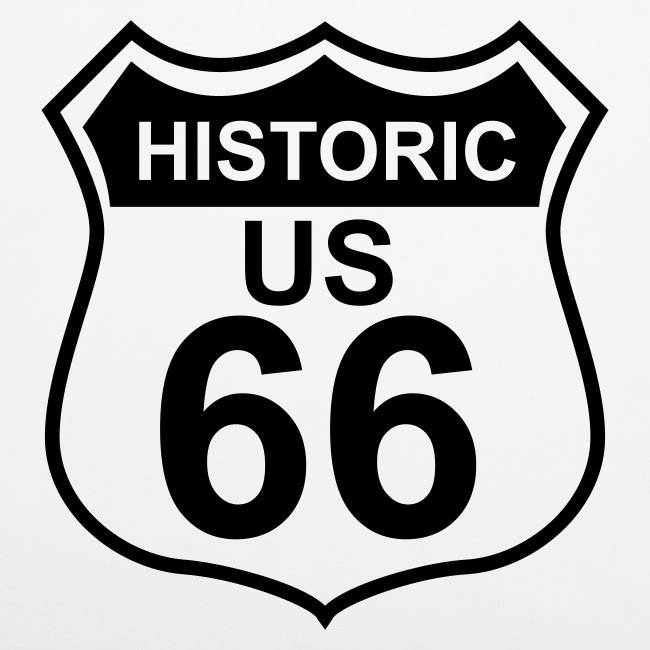 Kissenbezug Historic US 66, 40 x 40 cm