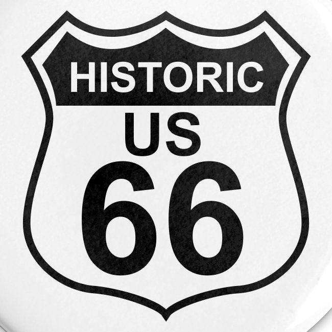 Buttons 25 mm Historic US 66, 5er Pack