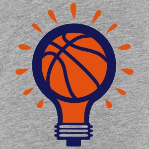 Basketball ball bulb concept design Shirts - Teenage Premium T-Shirt