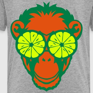 Monkey eye ring lemon drawing Shirts - Kids' Premium T-Shirt