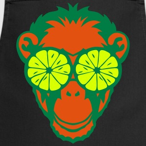 Monkey eye ring lemon drawing  Aprons - Cooking Apron