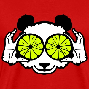panda eye ring lemon hand drawing T-Shirts - Men's Premium T-Shirt