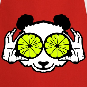 panda eye ring lemon hand drawing  Aprons - Cooking Apron